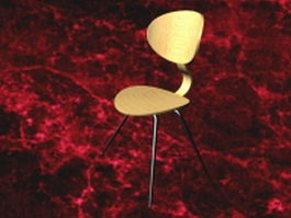 eames bar stool 3d model