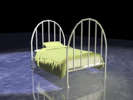 Girls metal bed 3d model