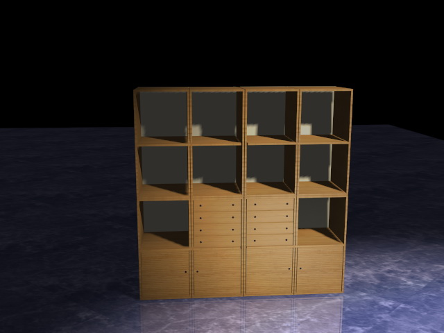 Office Storage Wall Units 3d Model 3d Studio 3ds Max Dxf
