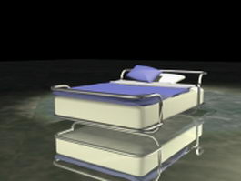 Modern metal frame bed 3d model