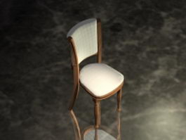 Upholstered dining chair 3d model
