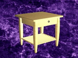 Small nightstand table 3d model