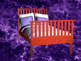 Redwood mission bed 3d model