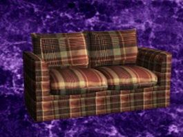 Upholstered reclining loveseat 3d model