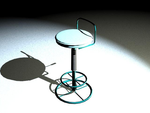 Rotating bar stool 3d model