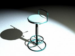 Rotating bar stool 3d model