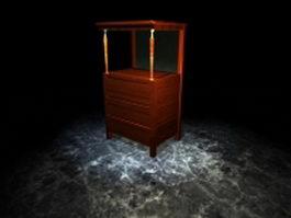 Display case for living room 3d model
