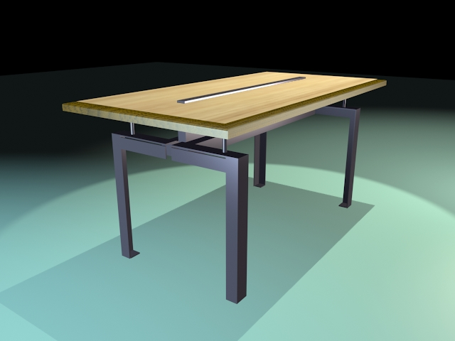 Industrial dining table 3d model 3d studio 3ds max dxf for Dining room table 3ds max
