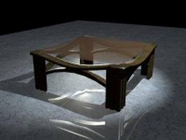 Modern glass coffee table 3d model