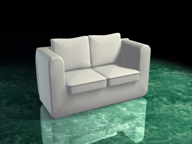 White Loveseat 3d Model 3d Studio 3ds Max Dxf Files Free