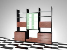 Office wall units 3d model