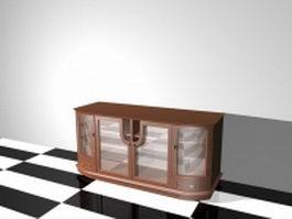 TV cabinet with glass doors 3d model