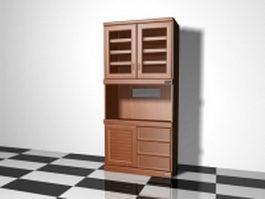 Vintage hutch cabinet 3d model