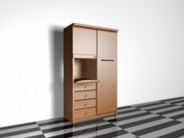 Tall kitchen storage cabinet 3d model
