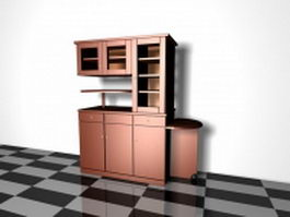 Kitchen hutch cabinet 3d model