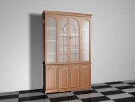 Display cabinet with glass doors 3d model