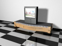 TV on stand 3d model