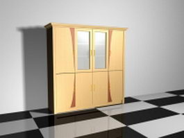 Clothing wardrobe furniture 3d model