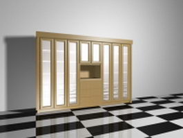Office display cabinets 3d model