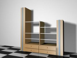 Display shelves for home 3d model