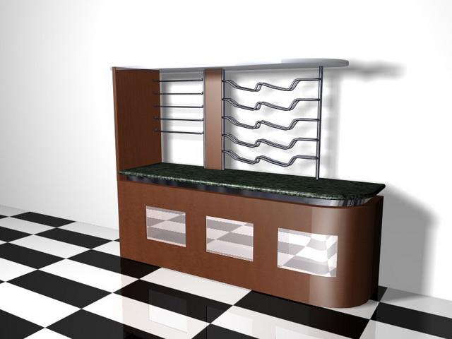 home bar furniture 3d model 3d studio 3ds max files free