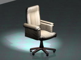 White executive office chair 3d model