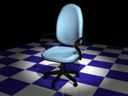 Office staff chair 3d model