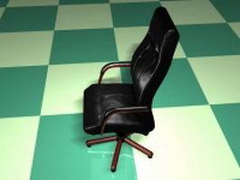 High back executive chair 3d model