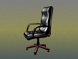 Executive leather chair 3d model