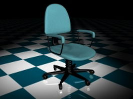 Blue staff chair 3d model