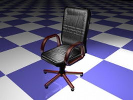 executive leather office chair 3d model