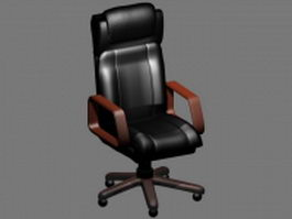 Executive chair with headrest 3d model
