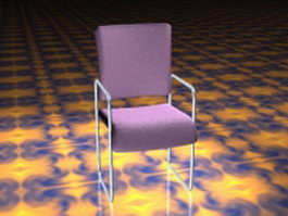 Modern conference room chair 3d model