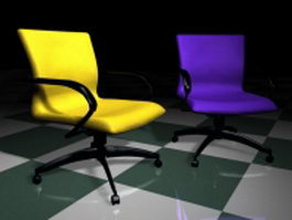 Colorful conference chairs 3d model