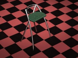 Metal bar stool chair 3d model