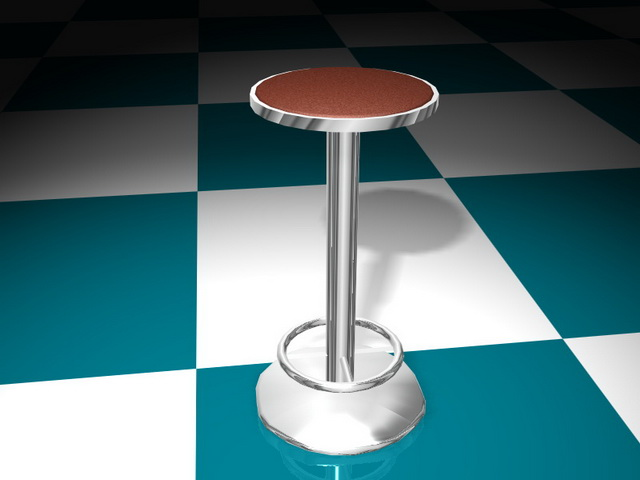 Floor Fixed Bar Stool 3d Model 3d Studio 3ds Max Files