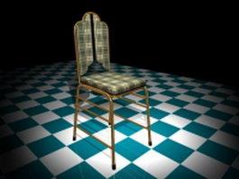 Brass dining chair 3d model