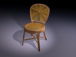 Antique rattan chair 3d preview