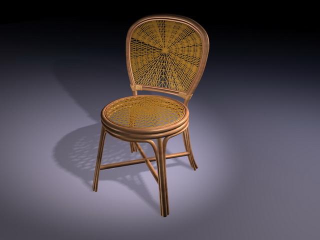 Antique rattan chair 3D Model - Antique Rattan Chair 3d Model 3D Studio,3ds Max Files Free Download