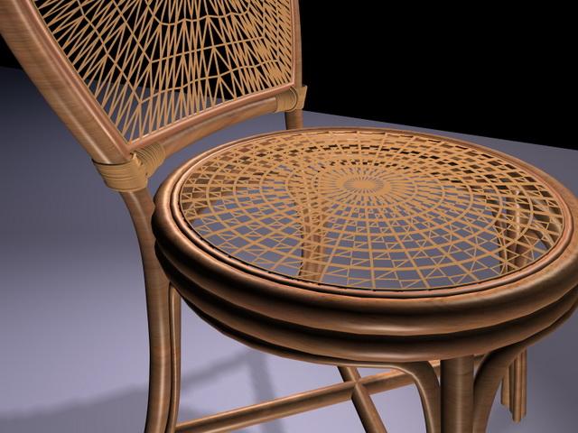 Antique Rattan Furniture Chair 3d Model Design. Available 3D Object Format:  .3DS (3D Studio) .MAX (3ds Max) Scanline Render. Texture Format: Jpeg