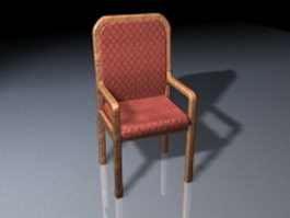 Old style dining chair 3d model