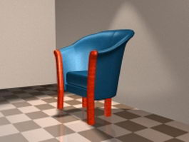 Tub accent chair 3d model
