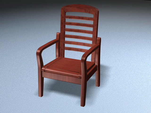 Pleasing Redwood Armchair 3D Model 3D Studio 3Ds Max Files Free Download Free Architecture Designs Scobabritishbridgeorg