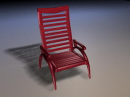 Redwood reclining chair 3d model