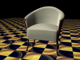 Fabric tub chair 3d model