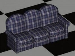 Plaid sofa furniture 3d model