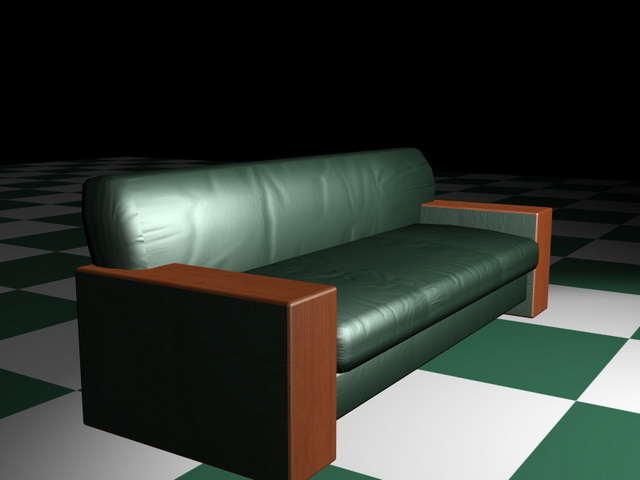 Green Leather Couch Sofa 3d Model 3d Studio 3ds Max Files