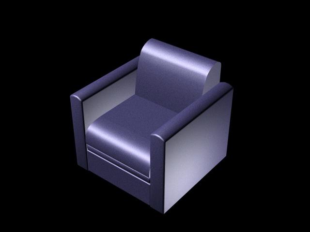Awe Inspiring Leather Cube Chair 3D Model Cadnav Creativecarmelina Interior Chair Design Creativecarmelinacom
