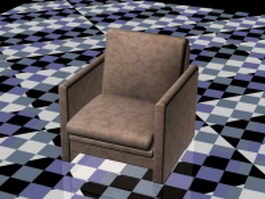 Small fabric club chair 3d model