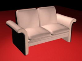 Light pink loveseat 3d model